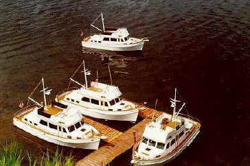 4 Boats at the dock